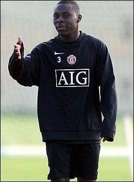 Adu during his trial spell with Manchester United in 2006